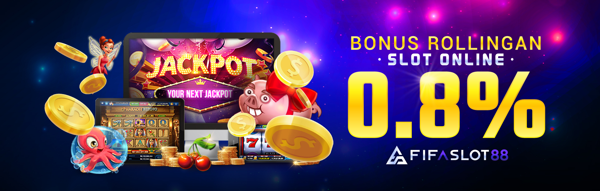 Bonus Rollingan Slot online 0,8%