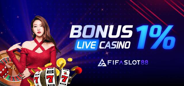 Bonus Live Casino 1%